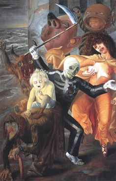Otto Dix – The Seven Deadly Sins (1933) mixed media on panel