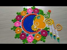 21 Ideas For Embroidery Hand Ideas Sweets Easy Rangoli Designs Videos, Rangoli Designs Latest, Rangoli Designs Flower, Rangoli Border Designs, Rangoli Patterns, Colorful Rangoli Designs, Rangoli Ideas, Rangoli Designs Images, Rangoli Designs Diwali