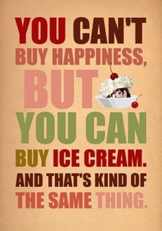 Just wish I could EAT ice cream again!