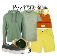 """""""Raymond"""" by leslieakay ❤ liked on Polyvore featuring Nudie Jeans Co., River Island, ExOfficio, MN Watches, Vans, men's fashion, menswear, disney and disneybound"""