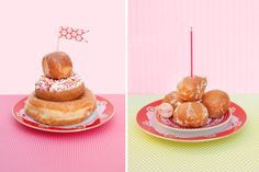 mini donut cakes, a cute cupcake alternative. #stylishkidsparties