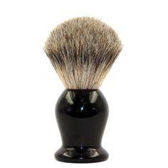 EcoToKo Basic Pure Badger Shaving Brush With Black Handle-Engineered To Deliver the Best Shave of Your Life Shaving Set, Shaving Razor, Wet Shaving, Shaving Cream, Badger Shaving Brush, Best Shaver For Men, Men's Grooming, Hair Brush
