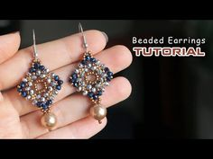 Diy earrings 296604325463692177 - Quick and easy to make beaded earrings with seed beads and rondelle beads Source by huongtinhvu Beaded Earrings Patterns, Beaded Brooch, Seed Bead Earrings, Diy Earrings, Jewelry Patterns, Seed Beads, Beading Patterns, Hoop Earrings, Beading Tutorials