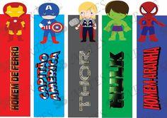 Marcadores de Páginas - Prestes a Voar Creative Bookmarks, Diy Bookmarks, How To Make Bookmarks, Printable Bookmarks, Printables, Paper Toys, Paper Crafts, Heroes Book, Superhero Birthday Party