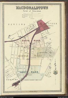 Higinbotham & Robinson. 'MacDonaldtown'. Maps of municipalities surrounding the city of Sydney. 1890s. National Library of Australia: http://nla.gov.au/nla.map-raa40-s29