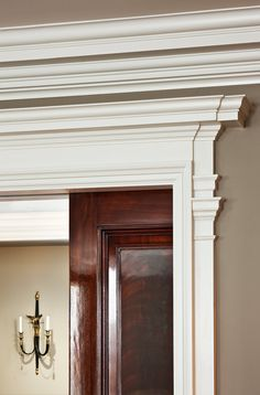 Door and Cornice detail - Manhattan Apartment by John B. Murray Architect