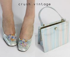1960s Andrew Geller matching shoes and handbag - what a great find!