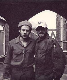 Rick Gomez and Frank John Hughes while filming