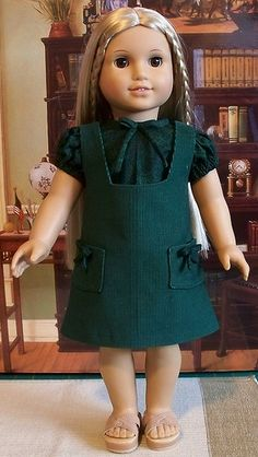Hunter green school jumper and blouse  for Julie 1974