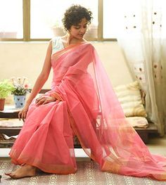 Handloom- Pink Gold And A Little Orange By SuTa PC 20806 - Thumbnail