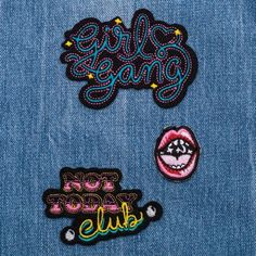 Cartela De Patches Girl Gang Stay Cool - Imaginarium
