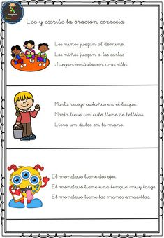 Spanish Classroom, Teaching Spanish, English Reading, Lectures, Learning Resources, Reading Comprehension, Grade 1, Elementary Schools, Kindergarten