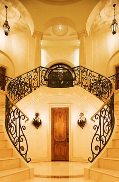 I wish I had this staircase.... better yet, the house that holds this staircase!