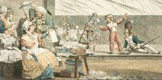 Eventaire de presse, détail de l'Almanach national pour 1791. Philibert Louis DEBUCOURT