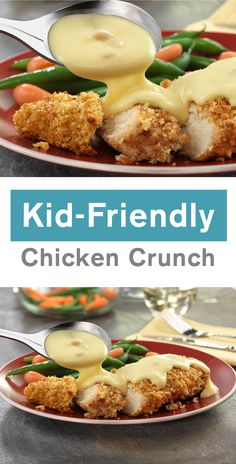 No dinner dish can compare to the bold flavors found in this kid-friendly Chicken Crunch recipe. Made with Campbell's® Condensed Cream of Chicken Soup, this savory creation is sure to please your family any night of the week. Plus, it takes only 35 minutes to make! Fig Recipes, Gourmet Recipes, Dump Recipes, Healthy Recipes, Cambells Recipes, Campbells Soup Recipes, Campbell Soup Company, Crunch Recipe, Cooking