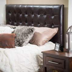 Shop for Austin Adjustable King/California King Tufted Bonded Leather Headboard by Christopher Knight Home. Get free delivery at Overstock.com - Your Online Furniture Shop! Get 5% in rewards with Club O!