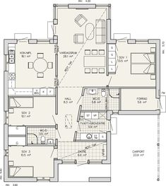 Entréplan 125 m2