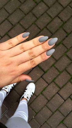 49 Trendy Almond Matte Nail Designs You& Love - Nails - # . - 49 trendy almond matte nail designs you& love – nails – - Matte Almond Nails, Natural Almond Nails, Long Almond Nails, Matte Acrylic Nails, Almond Shape Nails, Gel Nails, Nail Polish, Dark Nails, Coffin Nails