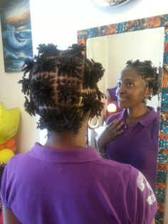 The Grid gives Versatility of Styling.  #Sisterlocks Installation Day 1. Hair By M & H.