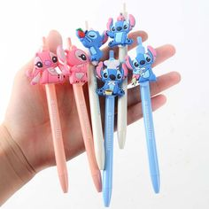 Cheap ballpoint pen, Buy Quality office school directly from China ballpoint pen kawaii Suppliers: JOUDOO Cute Lilo and Stitch Ballpoint Pen Kawaii Cartoon Writing Ball Pens Office School Supplies Gift for Kids Lilo And Stitch Quotes, Lilo Y Stitch, Cute Stitch, Cute School Supplies, Office And School Supplies, Pen Toppers, School Suplies, Disney Phone Cases, Cute Stationary