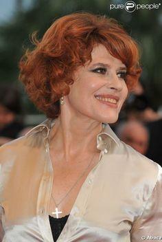 Fanny Ardant lors de la montée des marches le 22 mai 2009 durant le 62e Festival de Cannes