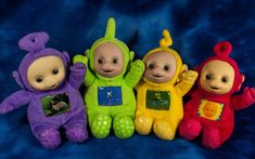 """Dipsy Teletubbies Po Laa Laa y Tinky Winky 10/"""" muñecos de peluche Set 4"""