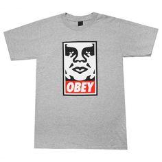 OBEY Icon Face tee-shirt heather grey 30€ #obey #obeygiant #streetart #shepardfairay #swag #hype #tee #tees #tshirt #tshirts #teeshirt #teeshirts #apparel #clothing #vetement #vetements #skate #skateboard #skateboarding #streetshop #skateshop @PLAY Skateshop