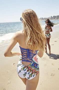 Gorgeous criss cross detailing on this swimsuit