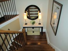 Stair landing - THIS IS WHAT I WANT MY LANDING TO LOOK LIKE!!!