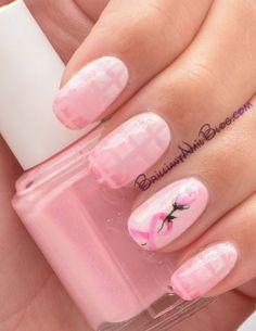 Pink Ribbon Nails | Flickr - Photo Sharing!