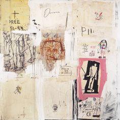"artimportant: ""Jean-Michel Basquiat - Big Shoes, 1983 Acrylic, oil stick and collage on canvas. Jean Michel Basquiat, Jm Basquiat, Joan Mitchell, Graffiti Art, Neo Expressionism, Robert Rauschenberg, Shoes Too Big, Art Brut, Helen Frankenthaler"