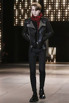 Saint Laurent Menswear Fall Winter 2014 Paris - NOWFASHION