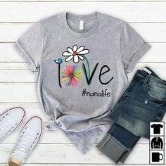 Personalized Love Mimi Life T Shirt Cool Tees, Cool Shirts, Funny Shirts, Tee Shirts, Love Shirt, Shirt Style, T Shirt Custom, T Shirt Painting, Girls Tees