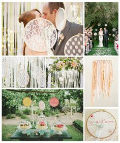 Embroidery hoops are so versatile at a wedding!