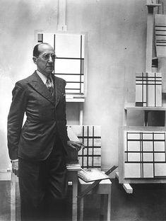 Piet Mondrian in his studio, 1937
