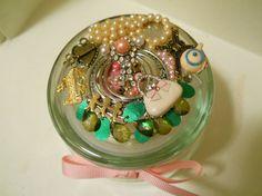 Jeweled Jar for Mom Trinket Jar Jewelry Jar by ChaostoChrist