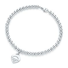 Return to Tiffany™ mini heart tag in sterling silver on a bead bracelet. 150.00 please Teddy bears can I have! Ive been a good girl!