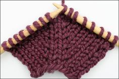 Twisted Yarn Over- a very nice increase stitch << knitting increase technique Knitting Increase, Knitting Help, Knitting Stiches, Knitting Needles, Knitting Yarn, Knit Stitches, Types Of Knitting Stitches, Hand Knitting, Knitting Patterns