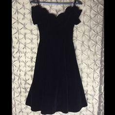 Vintage 80s Prom Dress Off the Shoulder; Back Zipper Dresses Midi