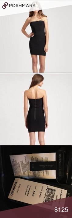 BCBGMaxAzria Black Bodycon Brand new only worn to try on. It looks stunning though I just have no occasion to wear it. Highly recommend it though all eyes would be on you when you're out wearing it. BCBGMaxAzria Dresses Strapless