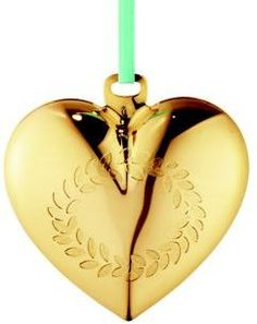 Georg Jensen 24K Goldplated Brass Christmas Heart Ornament #affiliate