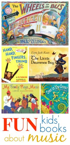 "FUN Kids Books about Music - a great selection! *Hand, Hand, Fingers, Thumb"" is an awesome book-great for learning how to read, and many math concepts."