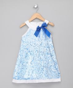 Torres   Blue Sequin Dress & Ruffle Shrug - Girls