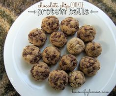 Chocolate Chip Cookie Protein Balls (made with Designer Whey Sustained Energy) #FitFluential #DesignerWhey