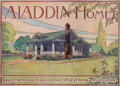 1917 Aladdin Kit Home Ad - The Sunshine. This image of the Aladdin Sunshine appeared in Ladies Home Journal as part of a full page ad. It eventually proved to be one of their most enduring plans. The plan in the 1920 catalog was renamed the Fairfield during the 1930s.