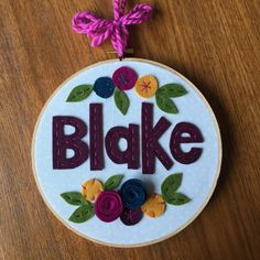 8 FELT NAME GIRLS Personalized Girl's Name by MissTweedleCrafts