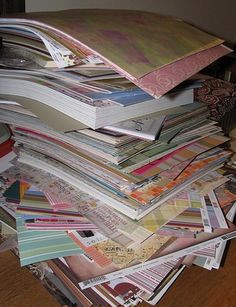 In My World . . .: Week #2 Challenge: Paper . . . and I mean ALL of your paper.