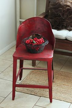 Lovely red chair...