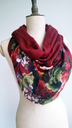 Valentine's day gift burgundy rose print scarf fashion women's scarf shawl rose shawl floral scarf burgundy shawl burgundy  scarf by caginas on Etsy https://www.etsy.com/listing/216426389/valentines-day-gift-burgundy-rose-print