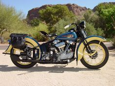 Knucklehead Harley › Harley Davidson Knucklehead Year 1936